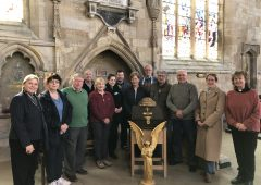 Service held to celebrate the return of our historic collection box featured image